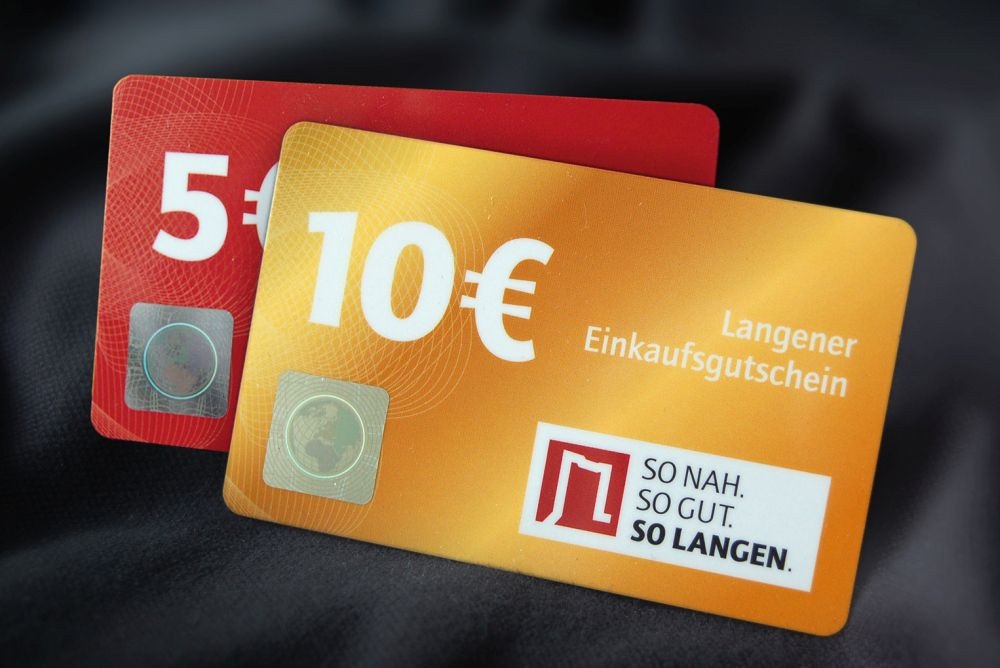 Citymarketing Einkaufsgutscheine 5 und 10 euro